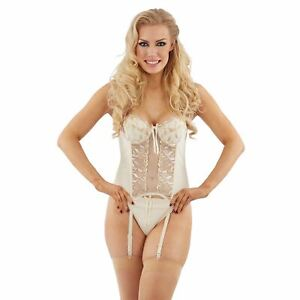 Bridal Basque/Corset and Thong Lingerie/Underwear Set Ivory/Cream Select Size
