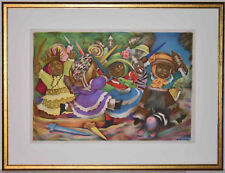 Listed American Artist, JEAN CHARLOT Signed Original Lithograph 1936 Rare