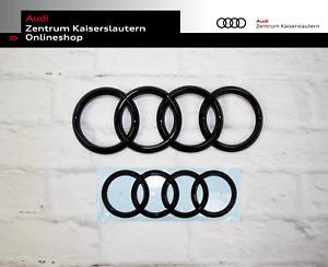 Audi A6 4G (bis 2014) Original Ringe Set schwarz vorne und hinten im Set