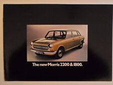 MORRIS 1800 & 2200 orig 1972 UK Mkt Sales Brochure - BL 2904/B