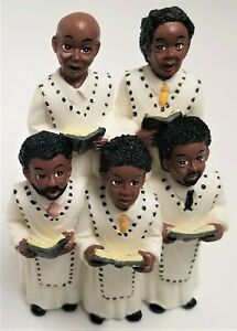Vintage Figurines African American Church Choir Young's Inc 1996