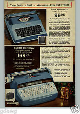 1972 PAPER AD Typewriter Royal Smith Corona Coronet Apollo Electric 12-GT