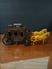 Vintage Processed Plastic Co Stagecoach w/Horses Toy