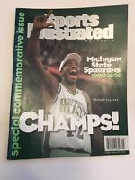 Sports Illustrated MSU Michigan State Spartans CHAMPS March Madness 1999 2000