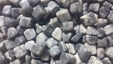 SIX (6) BLACK MOONSTONE TUMBLED STONES MEDIUM/LARGE NATURAL TUMBLE STONES