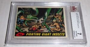 1962 Mars Fighting Giant Insects # 45 Excellent BVG 7 Like PSA BGS Alien UFO War