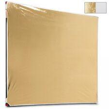 """Photoflex Litepanel 77x77"""" 196x196cm White/Gold Fabric  Reflektortuch  LP-7777WS"""