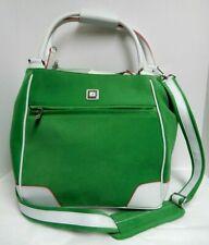 Diane Von Furstenberg DVF Green White Large Travel Tote Shoulder Bag NEW