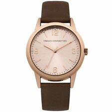 French Connection Women's Quartz Watch Rose Gold Dial Sfc108trg