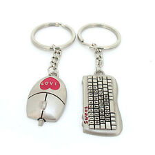 1pair 3D Couple Love Cup Heart Key Ring Keychain Keyfob Valentine's Day Gift Hot