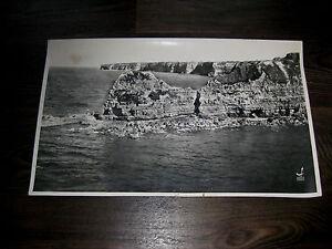PHOTO ANCIENNE 1956 LAPIE LA POINTE DU HOC WW2 CALVADOS VUE AERIENNE BON ETAT