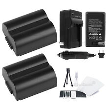 2x CGR-S006e Battery+ Charger+BONUS for Panasonic Lumix DMC-FZ18 FZ28 FZ30 FZ35