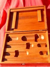 "Vintage Hardwood Tongue Groove Box w Specialized Compartments 12"" L x 9"" W"