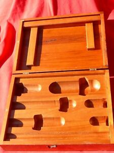 """Vintage Hardwood Tongue Groove Box w Specialized Compartments 12"""" L x 9"""" W"""