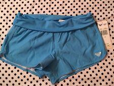 NWT Roxy Girls Swim Shorts Blue Sz 10 Summer