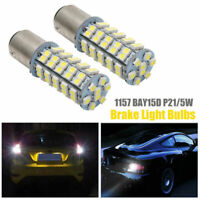 2X 12V 1157 Bay 15D P21/5W 68SMD LED Car Tail Brake Stop Light Bulb White Lamp