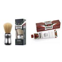 Proraso Sandalwood Oil & Shea Butter Shaving Cream 150ml Tube + Large Brush