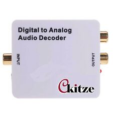 CKITZE Digital to Analog Audio Decoder SPDIF/Coaxial 5.1Ch Input to L/R 3.5mm