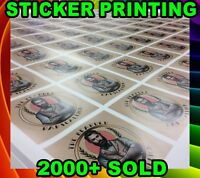 Labels Sticker custom Printing your Design Vinyl Contour Cut Any Shape Business