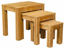 Winchester Solid Oak Nest of Three Tables / Nesting Tables / Fully Assembled