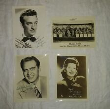 HARRY JAMES BEST CHESTERFIELD CIGARETTE WISHES PREMIUM PHOTOS Lot of 4 1940's