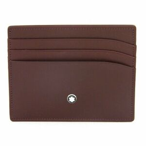 Card holder Montblanc Meisterstuck 114558 with 6 pockets in burgundy leather