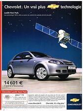 Publicité Advertising 2005 Chevrolet Lacetti Navi pack