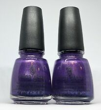 China Glaze Nail Polish GRAPE JUICE 717 Grapey Lavender Micro Glitter Lacquer