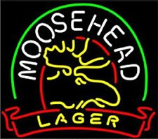 "Moosehead Lager Neon Light Sign 17""x14"" Lamp Beer Bar Pub Glass Display Artwork"