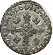 O7422 INEDIT Henri II douzain C couronnés 1557 A Paris SUP