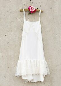 NWT Joyfolie GRACELYN SLIP DRESS LINED BODICE IN CREAM Girls Size 12