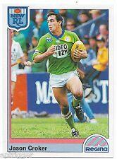 1992 NSW Rugby League REGINA Base Card (146) Jason CROKER Canberra Raiders