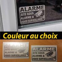 2 stickers autocollant alarme securité antivol vidéo surveillance sticker tuning