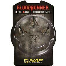 NAP Broadhead Bloodrunner 3 Replacement 3 Blade 3Pk #60688 Blood Runner