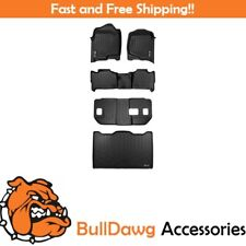 All Weather Floor Mats Set 3 Rows and Cargo Liner for Suburban / Yukon XL Black