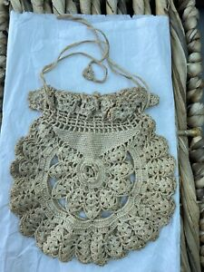 Antique 1930's  Crocheted 'Dolly Bag'