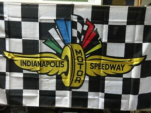 Indianapolis Motor Speedway Checkered Flag Banner Indy 500 IndyCar Brickyard 400