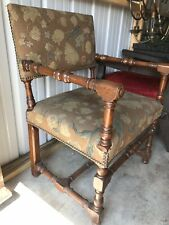 Antique Gothic Revival Oak Carved Throne Chair