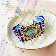 Blue Gold Bead Greek Turkish Third Evil Eye Protection Fashion Bracelet