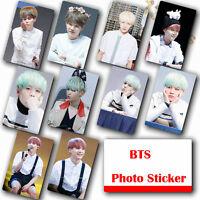 10Pcs / Set Kpop Bangtan Boys SUGA HD Lustre Photocard Crystal Card Sticker