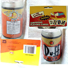 NEW Duff Beer Can w exclusive Simpsons Playing Cards Series 1 2001 FreeShip RARE