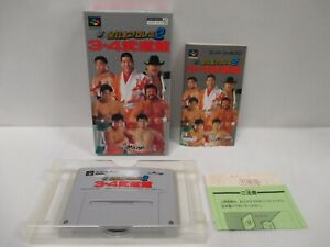 SNES -- All Japan Pro Wrestling 2 -- Box. Super Famicom, JAPAN Game. 14981