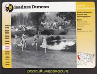 ISADORA DUNCAN Dancer Choreographer Bio Photo Grolier Story of America CARD