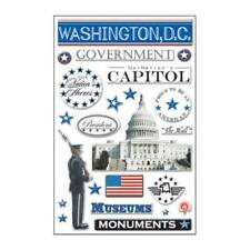WASHINGTON DC Patriotic Travel Epoxy Stickers