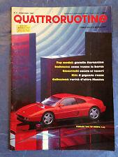 RIVISTA QUATTRORUOTINE N.3 1991 MODELLISMO FERRARI 365 GTB/4 DAYTONA 1969