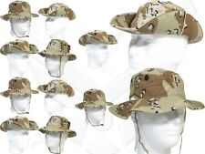 Dealer Lot 12 New 6 Color Desert Chocolate Chip Camouflage Boonie Cap 6 3/4 C12