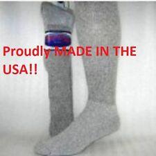 12 Pair PRO-TREK Brand Gray Over The Calf Crew Socks Size 10-13 Boot Socks