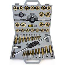 45 Pc Tap & Die Set Metric mm Titanium Tungsten Steel Jumbo Thread Renew Tool