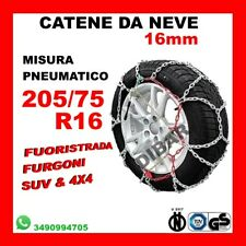 CATENE DA NEVE PER FUORISTRADA E 4X4 OMOLOGATE 16MM MISURA PNEUMATICO 205/75 R16