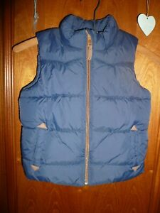 NEXT age 2-3 concealed hood padded quilted fleece lined gilet navy blue